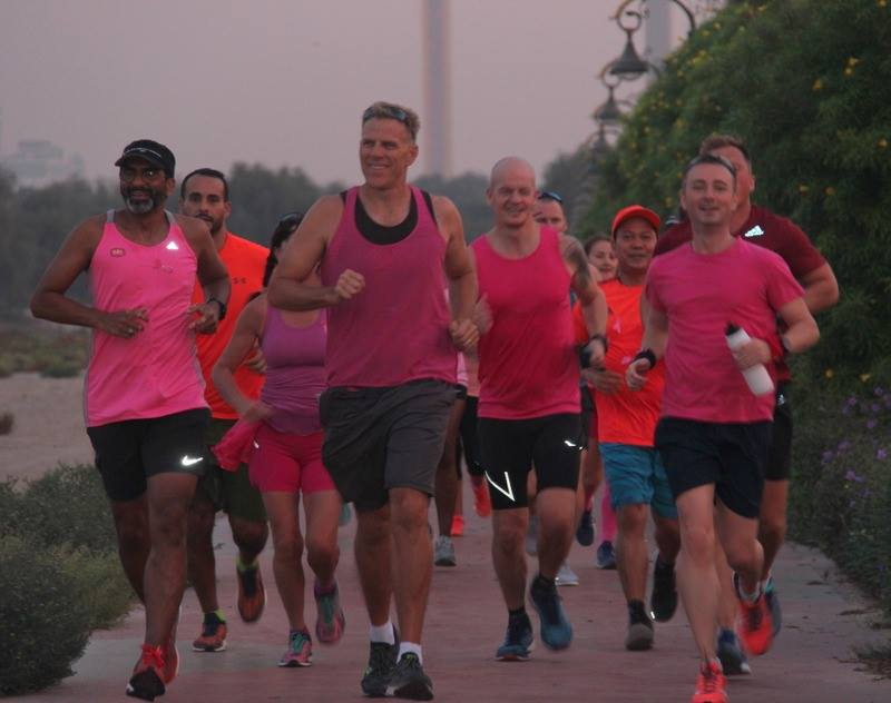 DCS host pink run in support of Breast Cancer Arabia